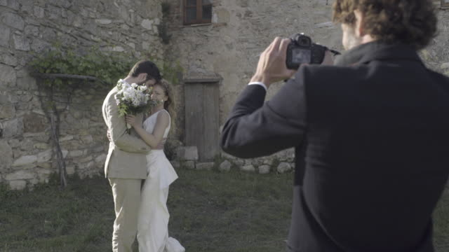 Bride and Groom having photos taken