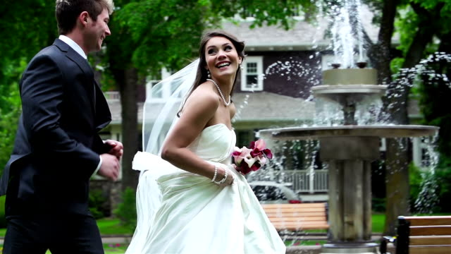bride and groom on their wedding day - bride stock videos and b-roll footage