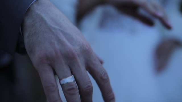 bride and groom showing wedding rings - married stock videos & royalty-free footage