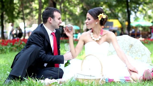 bride and groom - cupcake stock videos & royalty-free footage