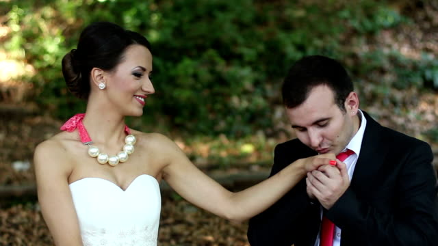 bride and groom - kissing hand stock videos & royalty-free footage