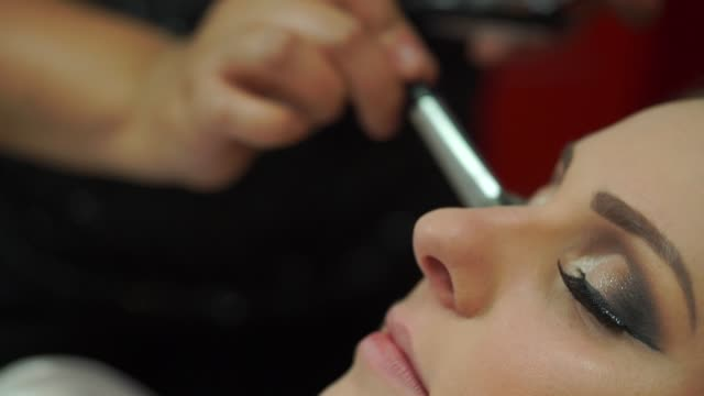 bride being made up for her wedding - bride stock videos & royalty-free footage