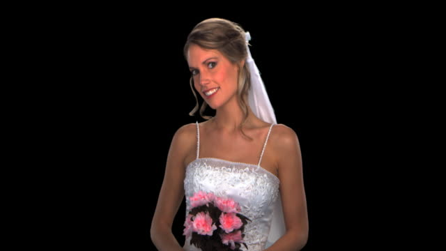 bride close-up - this clip has an embedded alpha-channel - keyable stock videos and b-roll footage