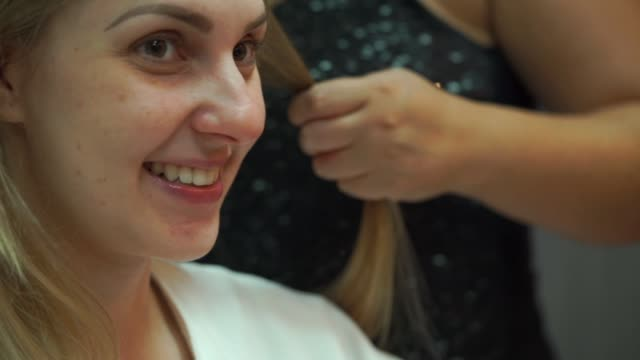 bride getting ready for her wedding - adjusting stock videos & royalty-free footage