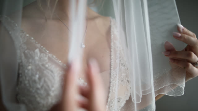 bride getting ready for wedding ceremony - stone object stock videos & royalty-free footage