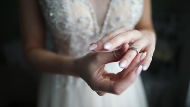 bride getting ready for wedding ceremony - bride stock videos & royalty-free footage