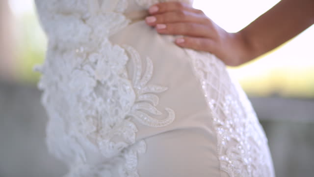 bride posing - abito da sposa video stock e b–roll