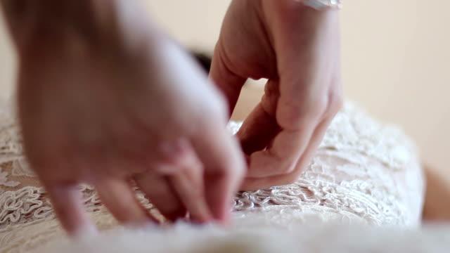 bride preparing - wedding dress stock videos and b-roll footage