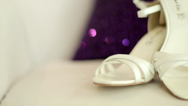 Bride shoes - Stock Footage