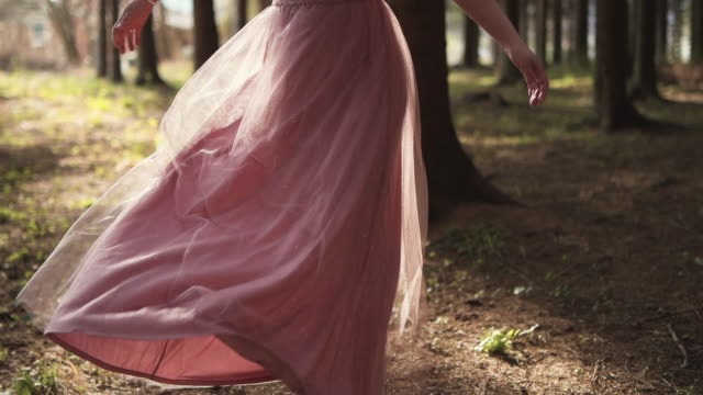 bride twirling in her dress - dress stock videos & royalty-free footage