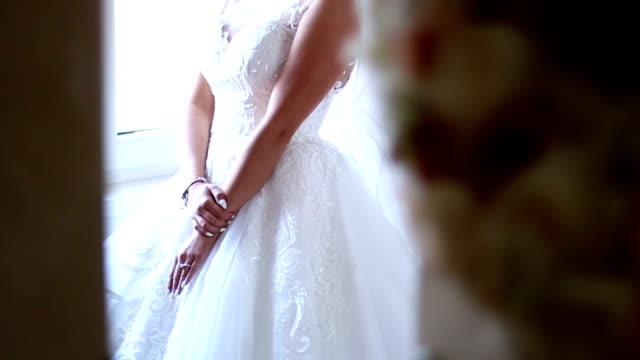 bride - wedding dress stock videos and b-roll footage