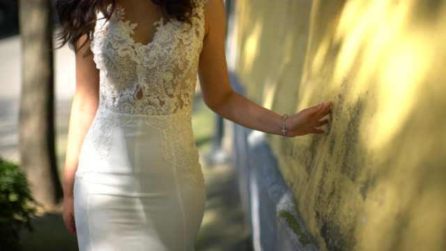 bride walking - wedding dress stock videos and b-roll footage