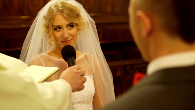 bride wedding vow - stock footage - human finger stock videos and b-roll footage