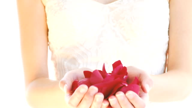 Bride with Rose Petals