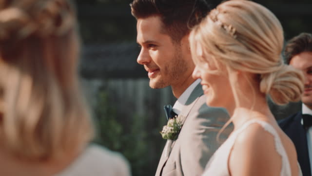 bridegroom waiting for bride during wedding event - best man stock videos and b-roll footage