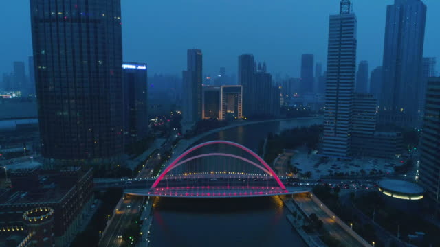 bridge aerial view - pechino video stock e b–roll