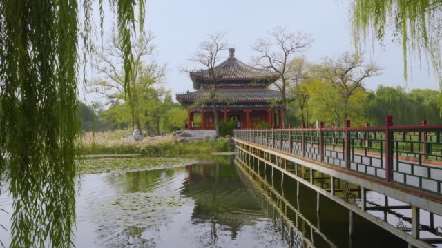 WS Bridge and Chinese pavilion inÊOld Summer Palace, Beijing, China