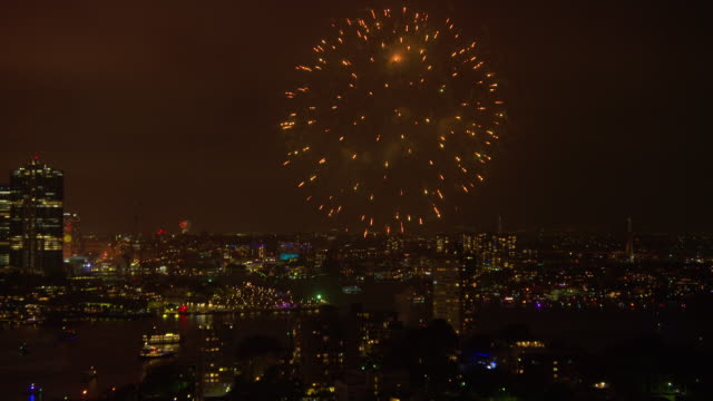 bridge and fireworks - new south wales stock videos & royalty-free footage