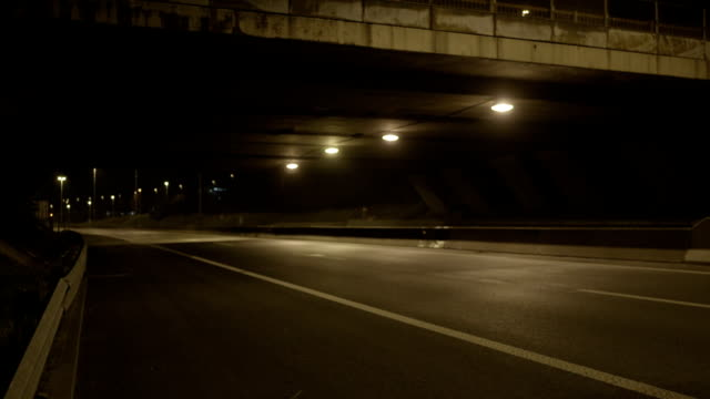 bridge and freeway at night - barren stock videos & royalty-free footage