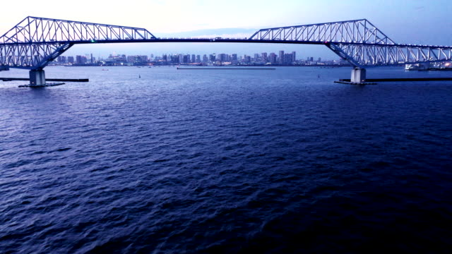 bridge and tall buildings - cantilever stock videos & royalty-free footage