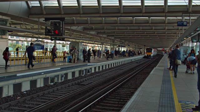 bridge at london. transportation hub - railway track stock videos & royalty-free footage