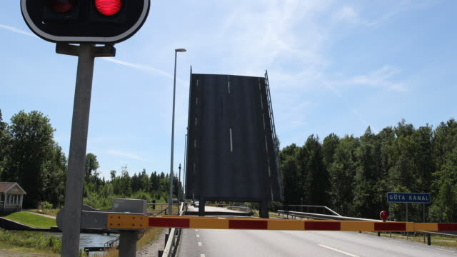 Bridge at the Göta Channel in Sweden near Gothenburg