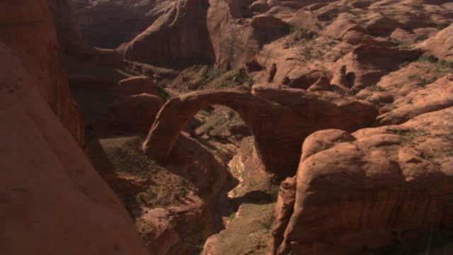 vidéos et rushes de bridge canyon and rainbow bridge - monument valley tribal park