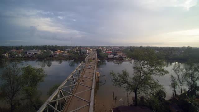 bridge in mesuji lampung - village stock videos & royalty-free footage