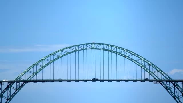 hd bridge in oregon - newport oregon stock videos & royalty-free footage