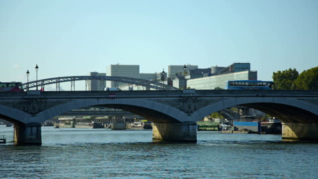 bridge in paris bercy - river seine stock videos & royalty-free footage