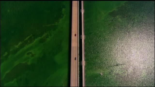 aerial, bridge, key west, florida, usa - the florida keys stock videos & royalty-free footage
