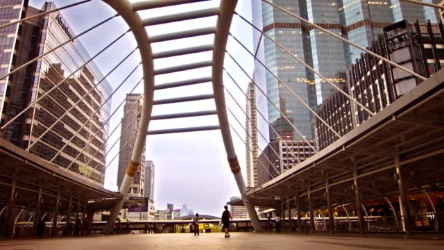 bridge link between mrt and bts mass transportation in heart of bangkok