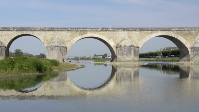Bridge of Gien over the Loire river