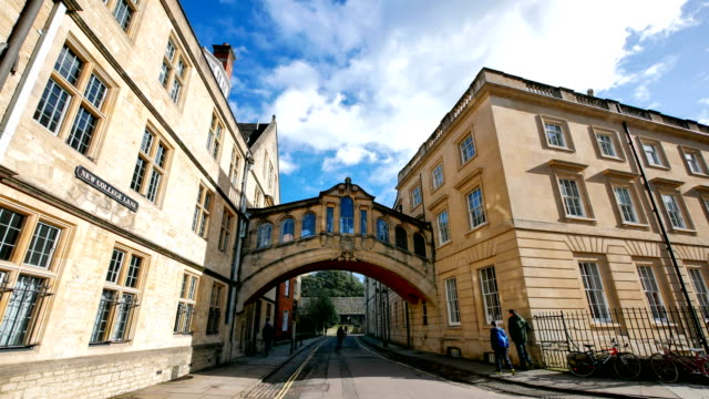 bridge of sighs, university of oxford, uk - oxford england video stock e b–roll