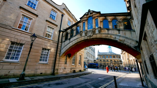 bridge of sighs, university of oxford, uk - oxford england stock videos & royalty-free footage