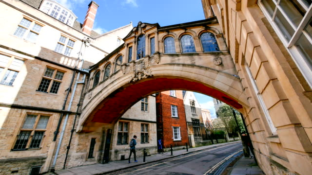 bridge of sighs, university of oxford, uk - oxford university stock videos & royalty-free footage