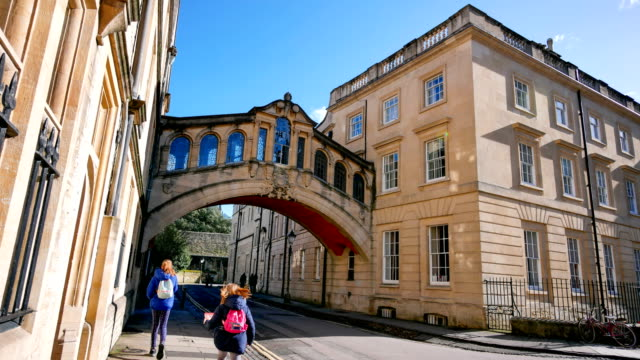 brücke der seufzer, university of oxford, großbritannien - oxford universität stock-videos und b-roll-filmmaterial