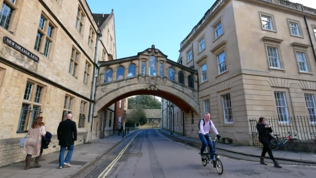 bridge of sighs, university of oxford, uk - cambridge university stock videos and b-roll footage