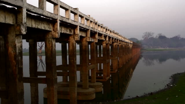 A Bridge over a River in Myanmar