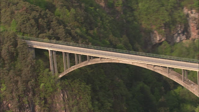 bridge over canyon-südtirol - brennero stock videos and b-roll footage