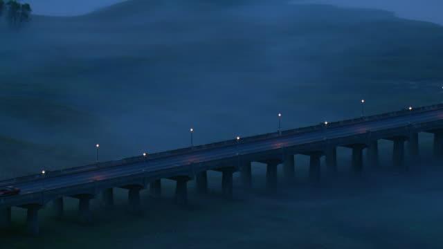 bridge over fog in early morning - 北半球点の映像素材/bロール