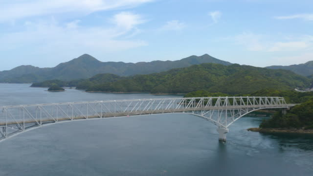 a bridge over nakadōri-jima (中通島) in the gotō islands (五島市) - satoyama scenery stock videos and b-roll footage
