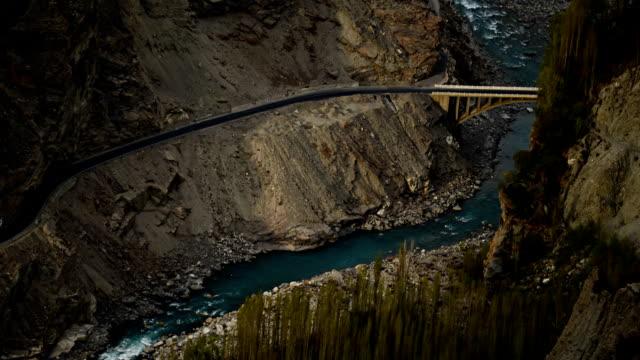 bridge over the river in Pakistan