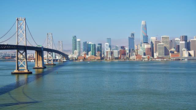 bridge. san francisco financial district - san francisco bay stock videos & royalty-free footage