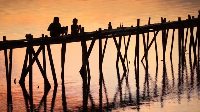 HD bridge silhouette at sunset in the Philippines