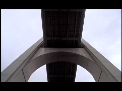a bridge stretches across a waterway toward a city. - eternity stock videos & royalty-free footage