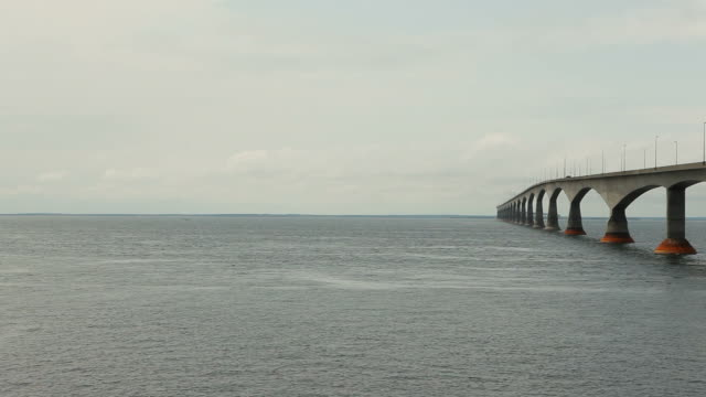 Bridge to Prince Edward Island on Left with Wide Open Sky