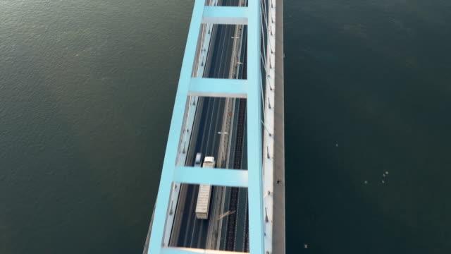 bridge - top view - bridge built structure stock videos & royalty-free footage