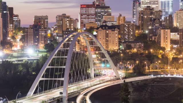 bridge traffic - edmonton stock videos and b-roll footage