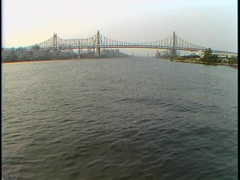 bridge up river liberty:ethnic new york tape 5 field - kantilever bildbanksvideor och videomaterial från bakom kulisserna